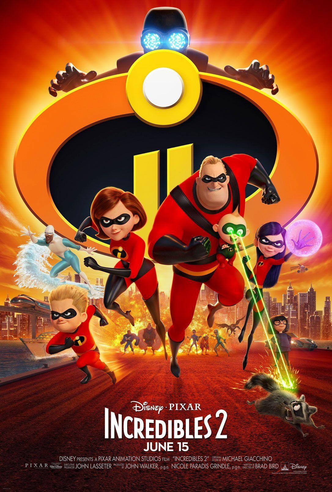 New Incredibles 2 Poster Bioskop Film Disney Disney Pixar
