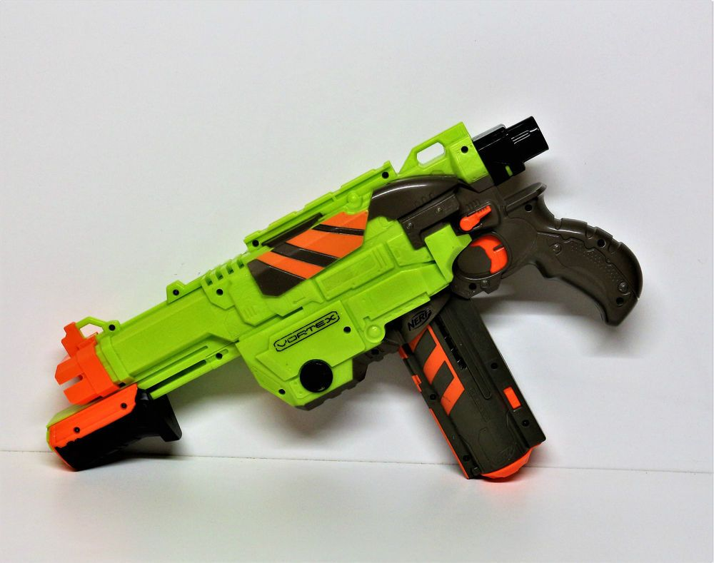 NERF VORTEX LUMITRON DISC GUN LIGHT UP CARTRIDGE GREAT CONDITION TOY GUN  VGC | eBay
