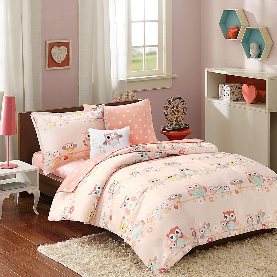 Mi Zone Kids 8-Piece Wise Wendy Full Comforter Set In Blush
