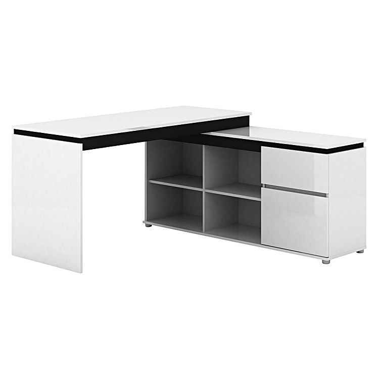 office desk styles. Milano High Gloss Storage Office Desk By LDWI | Zanui Styles N