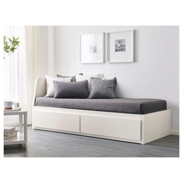 FLEKKE Tagesbettgestell/2 Schubladen weiß IKEA
