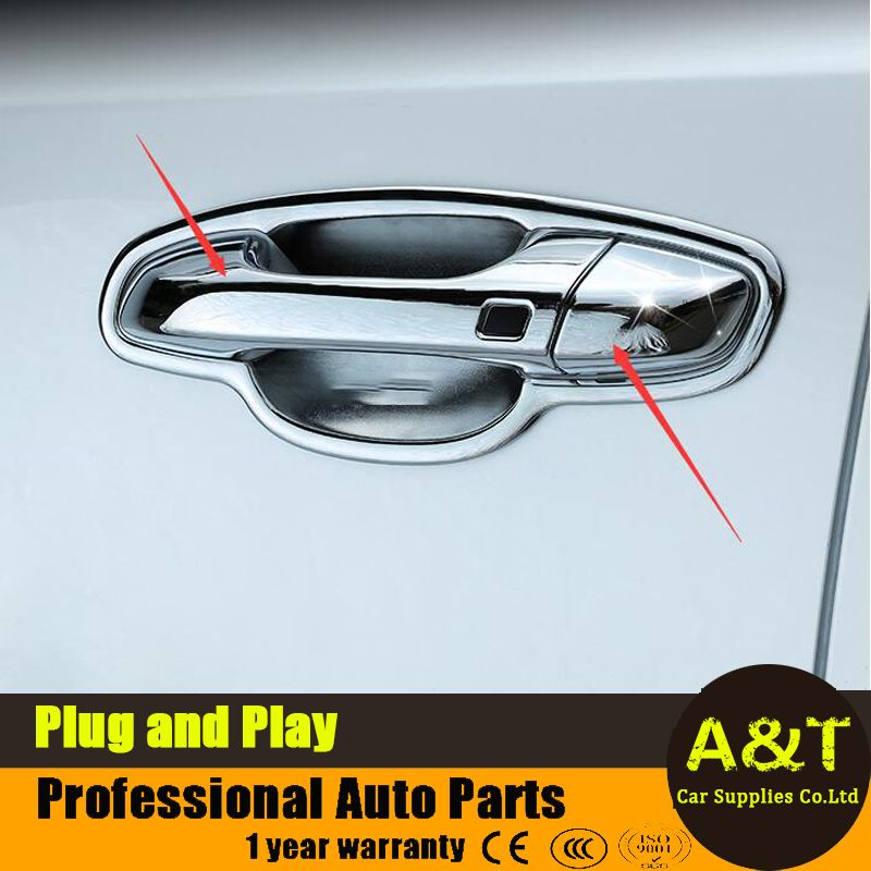 2016 2017 Model Car Styling For Kia Sportage Kx5 High Quality Chrome Outside Door Handle Cover Trim 8 Pcs Car Accessories Kia Sportage Car Model Sportage