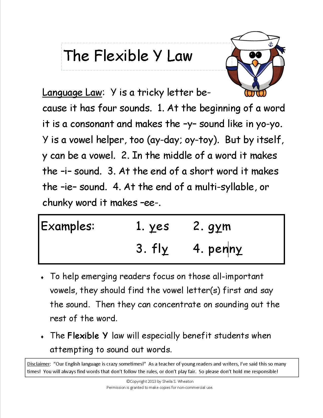 Flexible Y Teaches The Consonant Sound And 3 Vowel Sounds Of The Letter Y