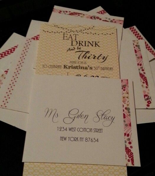 30th birthday invitations - word 2013 - card stock from michaels - invitations in word
