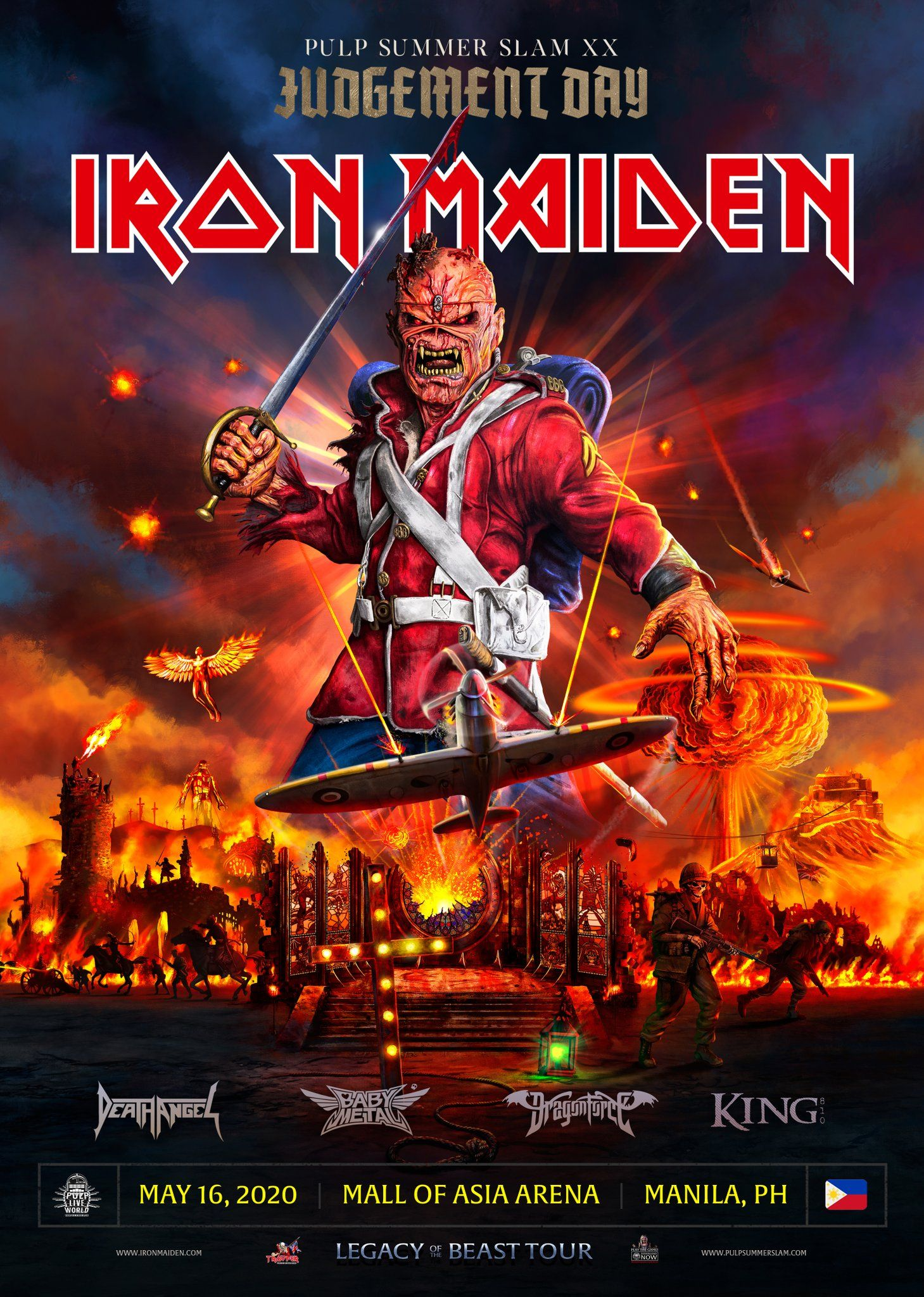 Pulp Live World On Twitter Iron Maiden Iron Maiden Posters Maiden