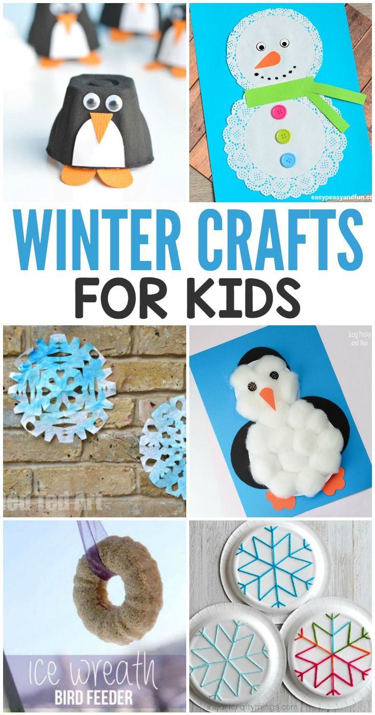 Simple Winter Crafts For Kids Includes Penguins Snowflakes And Other Art Projects