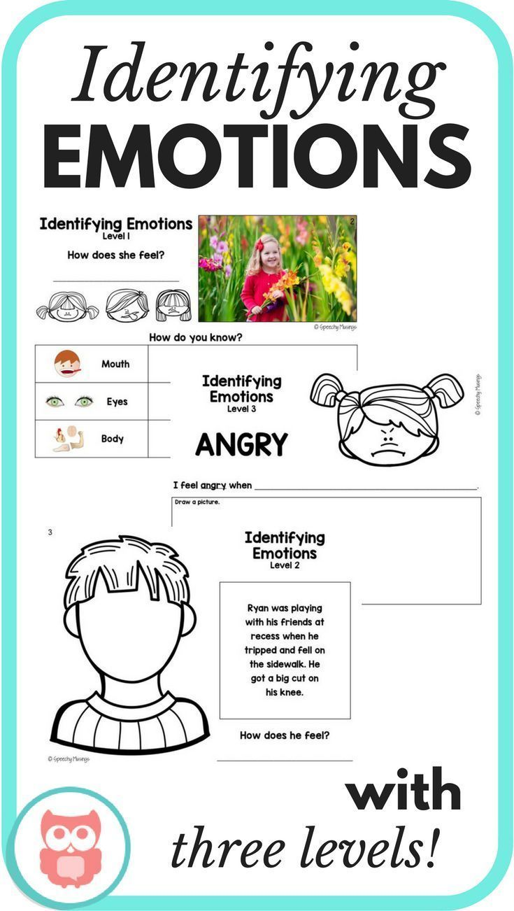 Identifying Emotions My Tpt Materials Pinterest Therapy