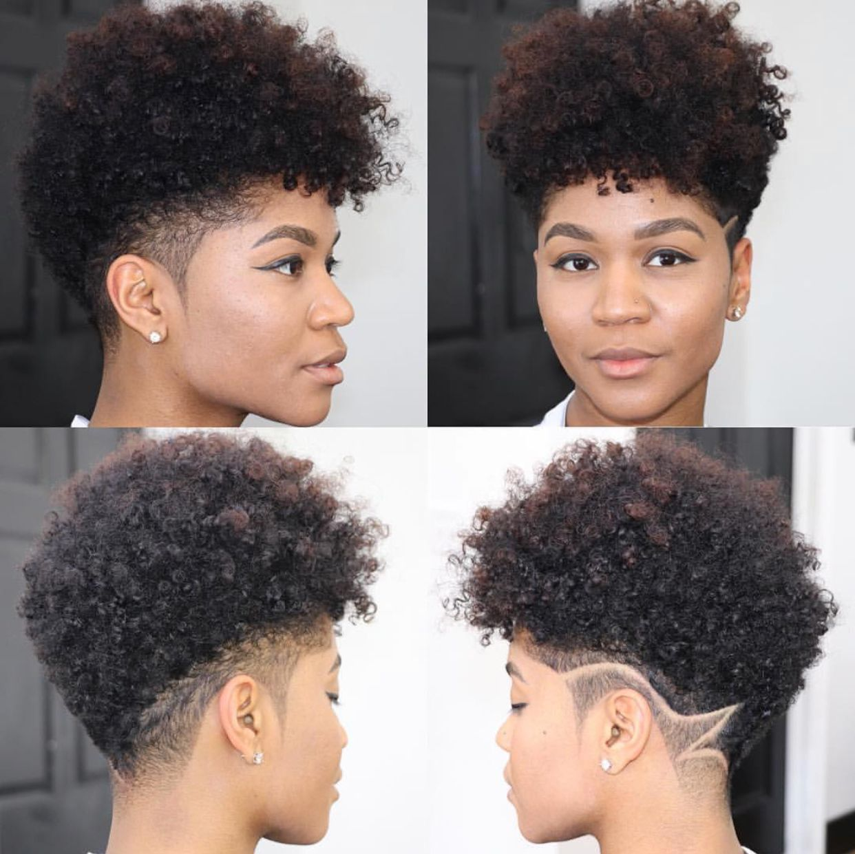 For more #Dopehercuts Follow @Hercutsuk on IG Pinterest & Facebook  www.hercuts.com | Tapered natural hair, Natural hair styles, Short natural  hair styles