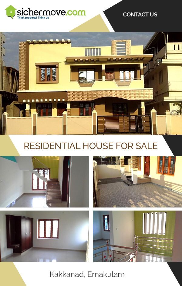 Makes you proud of your home… Residential house for sale in Kakkanad, Ernakulum  @90, 00,000.00 Please click on: - http://bit.ly/22NuItD  Buy/sell/rent Properties???....Log on to www.sichermove.com or call 9061681333/222/444 Think Property!!! Think sichermove.com !!!!