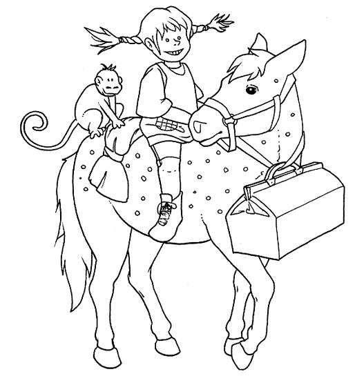 Disegni di pippi calzelunghe da colorare disegno di for Immagini di cavalli da disegnare