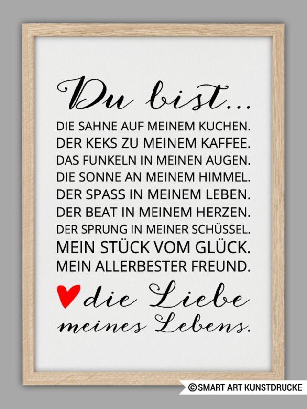 """LIEBE MEINES LEBENS"""" Kunstdruck"""