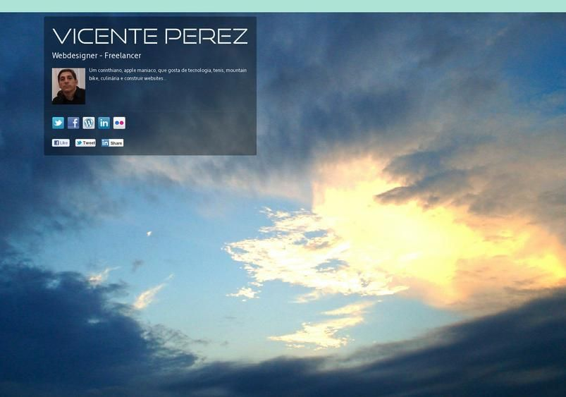 Vicente Perez's page on about.me – http://about.me/vicenteperez