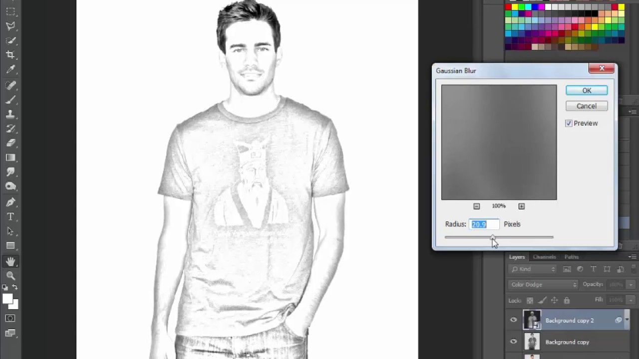 How to make pencil sketch in photoshop cc