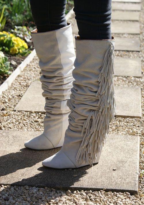 Isabel Marant Suede Fringe Boots Boots Fashion