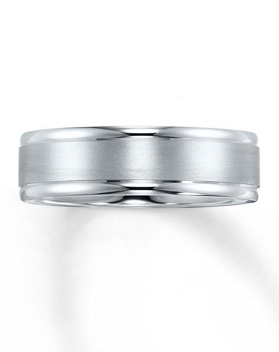 10k White Gold Brushed Center Wedding Band 252134806 White Gold Wedding Bands Unique Diamond Rings Halo Engagement Ring Emerald