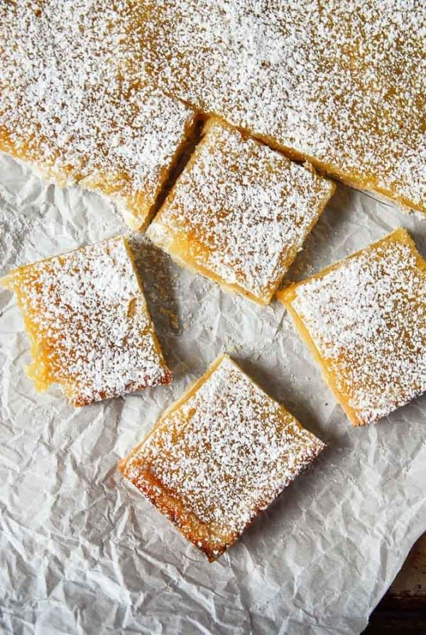 Vegan lemon bars are tart sweet and a perfect vegan dessert using all whole ingredients no tofu and no cashews Easy and with a vegan shortbread crust