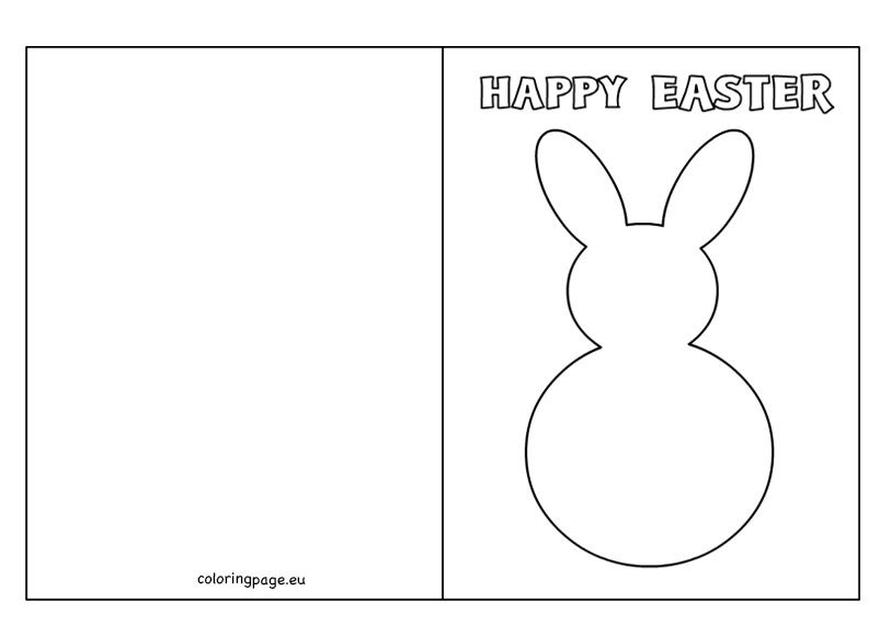 Easter Bunny Card Template Coloring Page Easter Coloring Pages Easter Colouring Easter Bunny