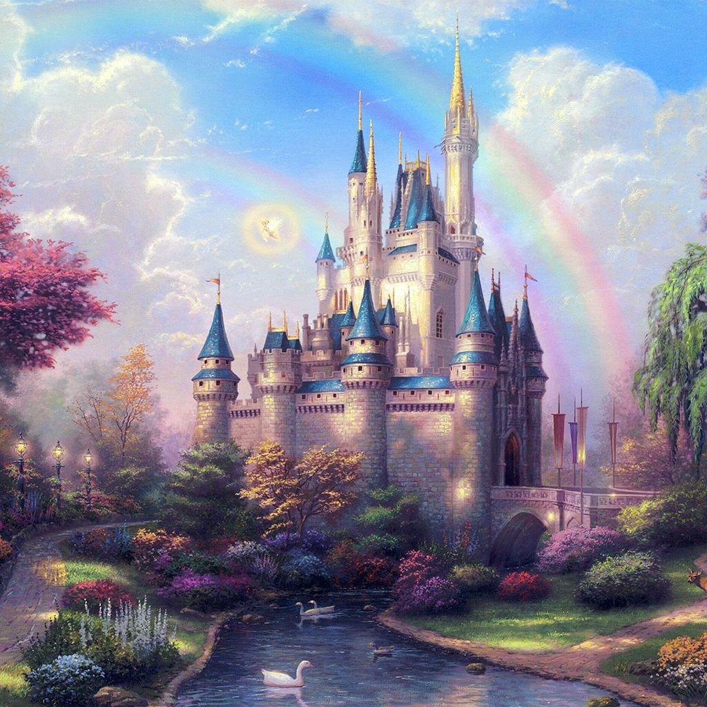 Papersco Ap98 Fantasy Castle Illustration Cute Disney 6 Wallpaper