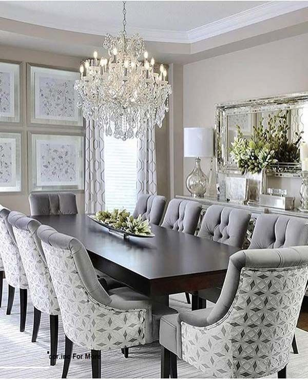 Fantastic Dining Room Decoration Ideas for 2019   Elegant ... on Living Room Wall Sconce Ideas For Dining Area id=50391
