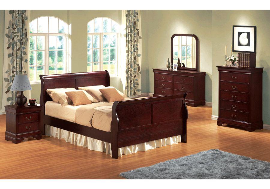 Philippe Cherry 8 PC Queen Bedroom | King bedroom, Home ...