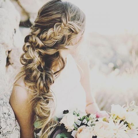 Brautfrisuren Halboffen Seitlich Frisuren Pinterest