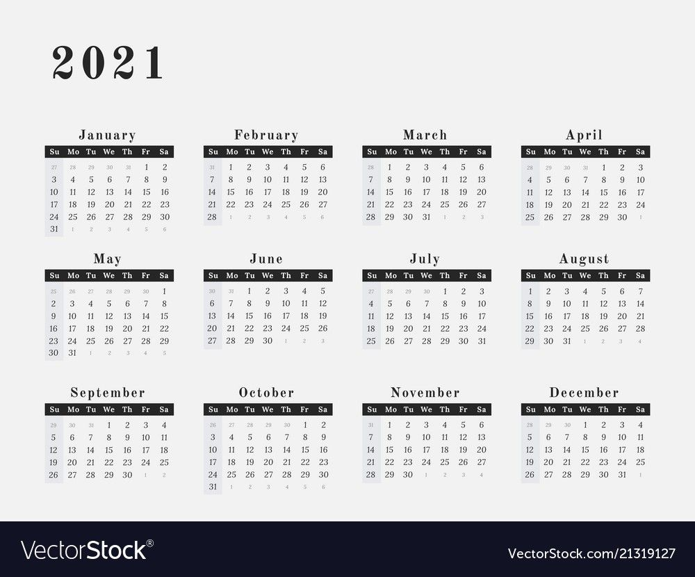 2021 Yearly Calendar Printable Horizontal Delightful To My Blog Within This Period I Ll Provi In 2020 Monthly Calendar Printable Calendar Printables Yearly Calendar