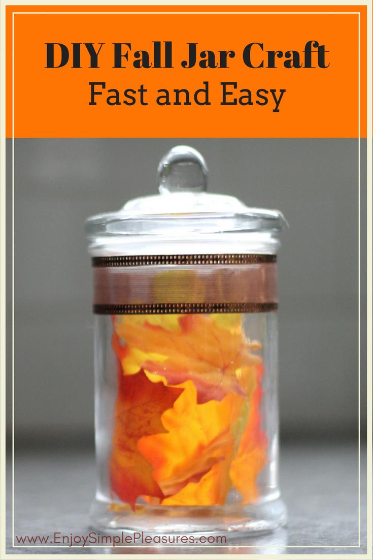 Fast Easy Diy Fall Jar Craft Diy Crafts Fall Crafts