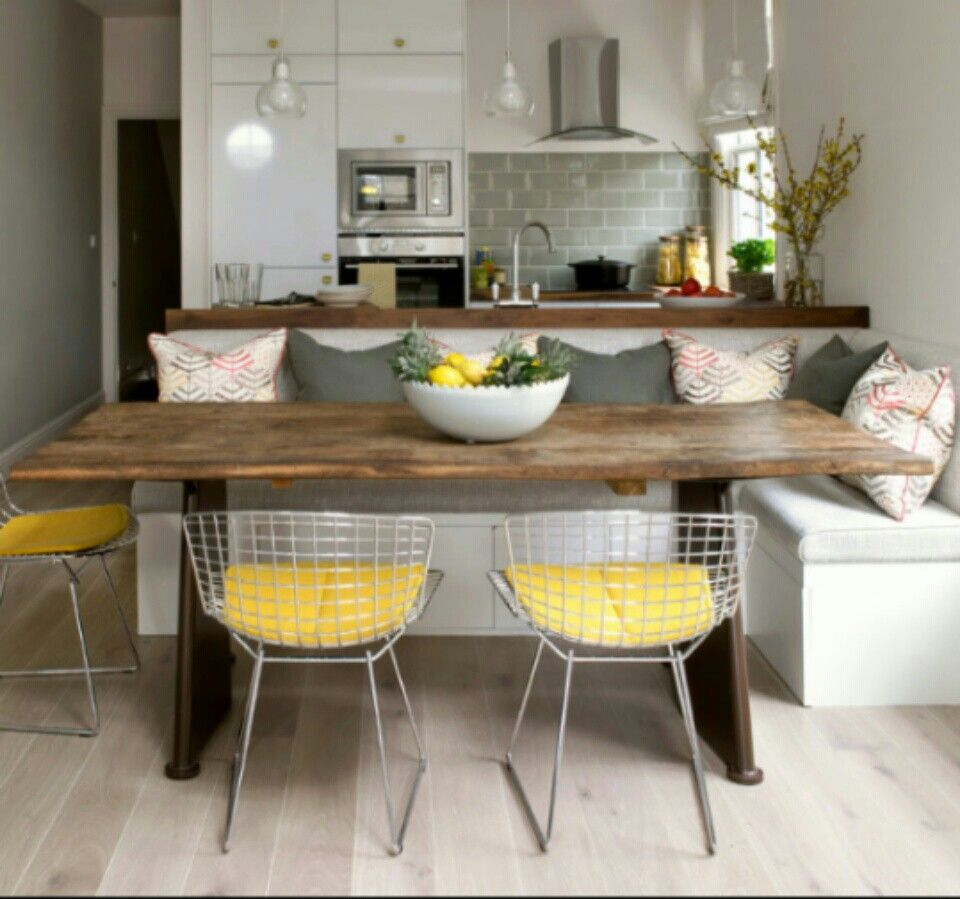 Built In Kitchen Table: Small Kitchen / Dinning Area Combo.