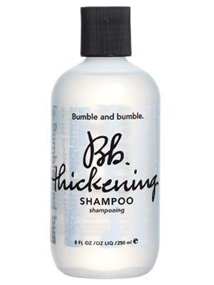 """Shampoo for Fine/Limp Hair  Bumble and Bumble Thickening Shampoo  Winner '05  This body-building product """"really fattens up fine hair"""" but keeps it smooth, says Brooklyn, N.Y., hairstylist David Cruz, who has worked with Scarlett Johansson. Wheat and panthenol help """"give hair volume and oomph,"""" says L.A. stylist Patricia Morales."""