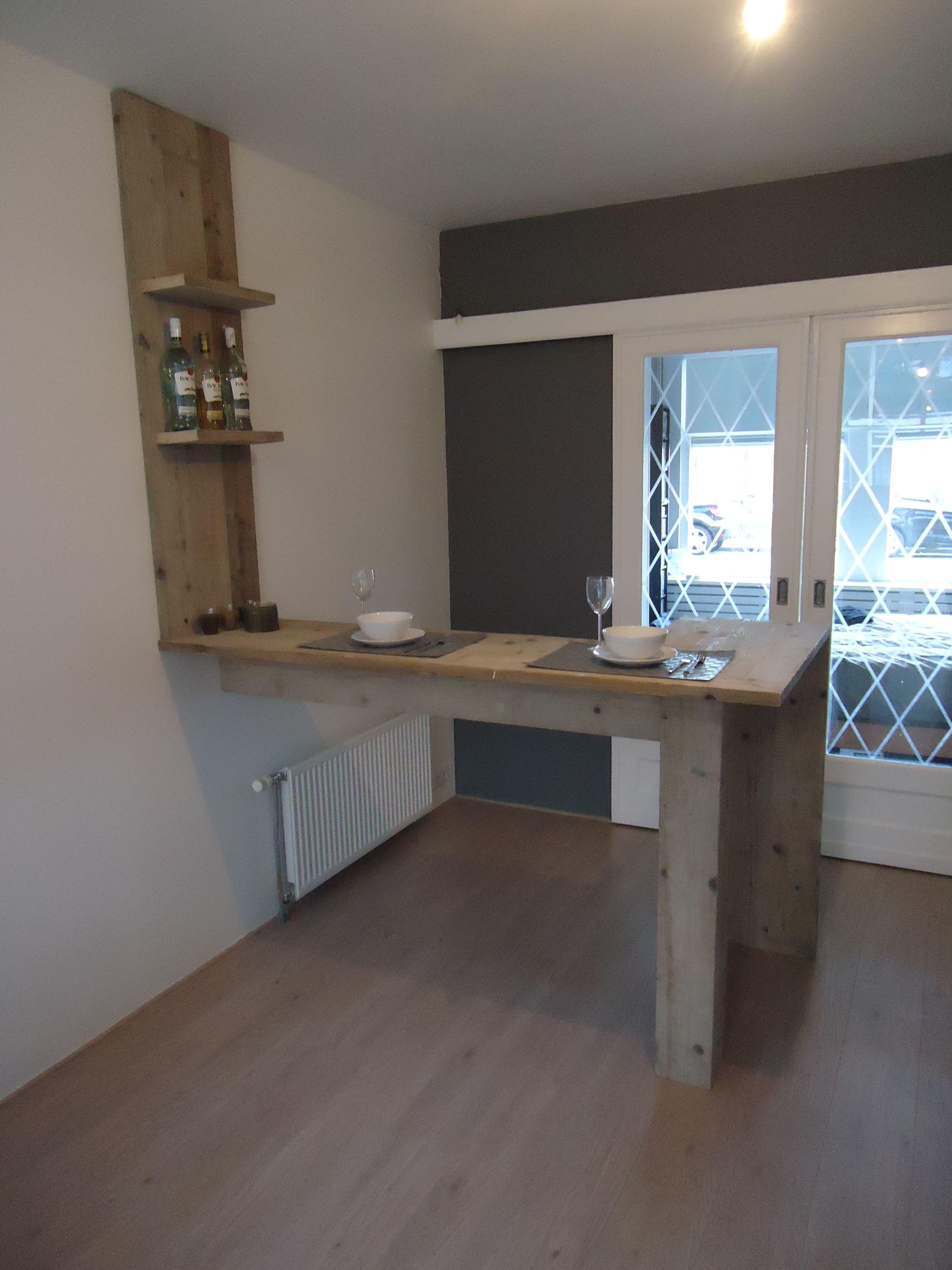 Steigerhout eigen ontwerp voor een eetbar my style pinterest - Idee van de eetkamer ...