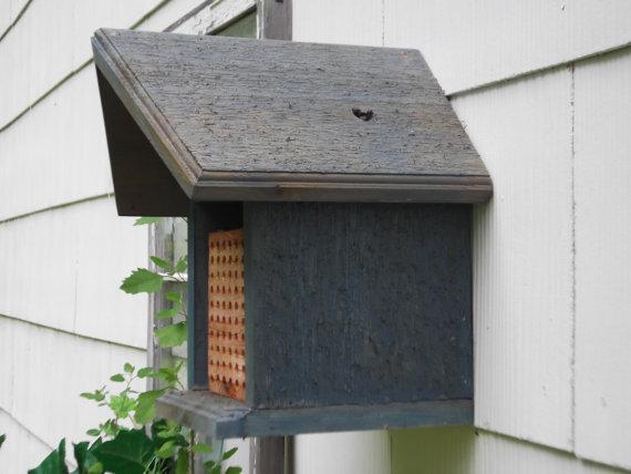Mason Bee House Habitat Cedar Habitat By Goodriddancefarm On Etsy