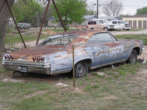 65 Chevy Impala 65 Chevy Impala Chevy Impala Abandoned Cars