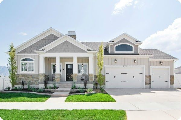 such a super clean and bright home exterior i would love to have my house look like that 2013 salt lake city parade of homes a happy house peeper - Craftsman Home Exterior