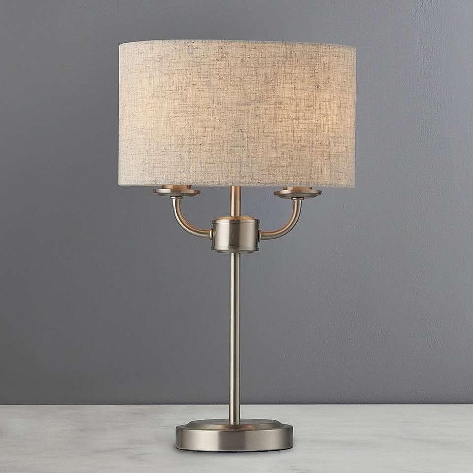 Preston Table Lamp Dunelm Nickel Table Lamps Table Lamp Lamp