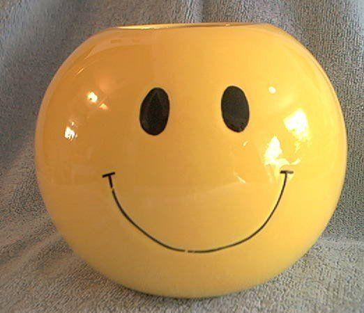 Fib Yellow Smiley Face Vase Flowers Inc Balloons Mosaic Art