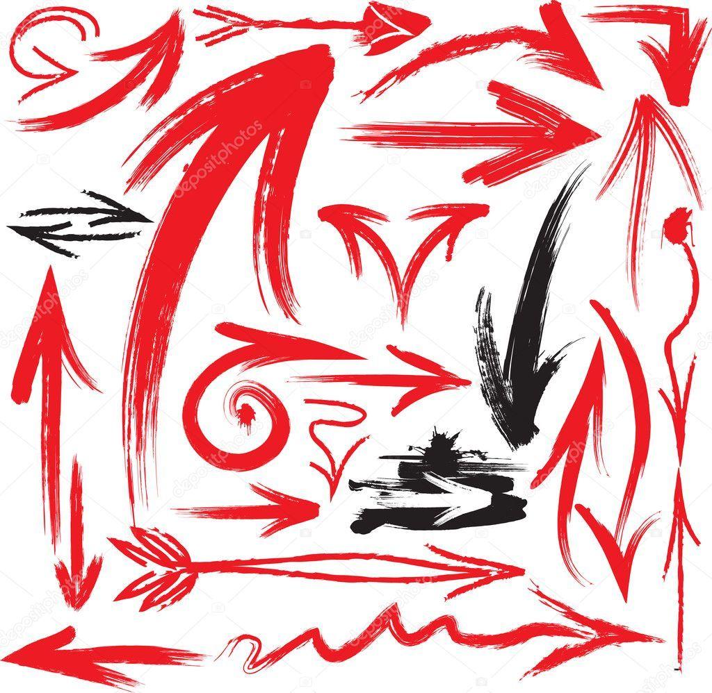 Set of handwritten arrows vector EPS Stock