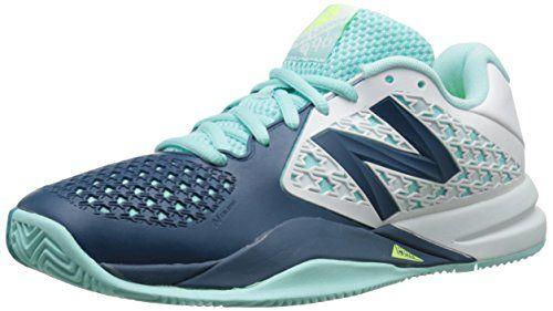 New Balance Women's 696v2 Tennis Shoe, Teal/White, 7 B US
