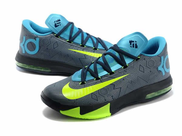 b26e92cf2bfe Nike KD 6 Black Blue Green