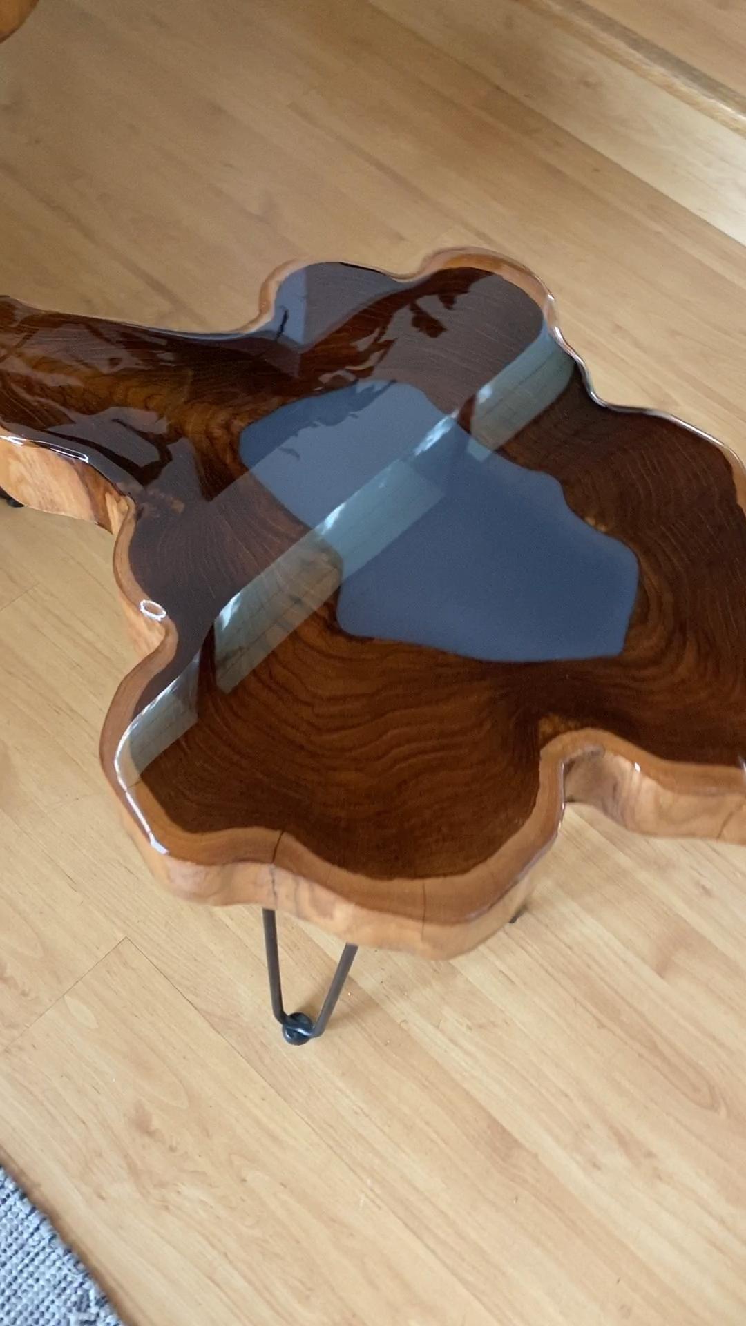'TEAK + RESIN' Side Table