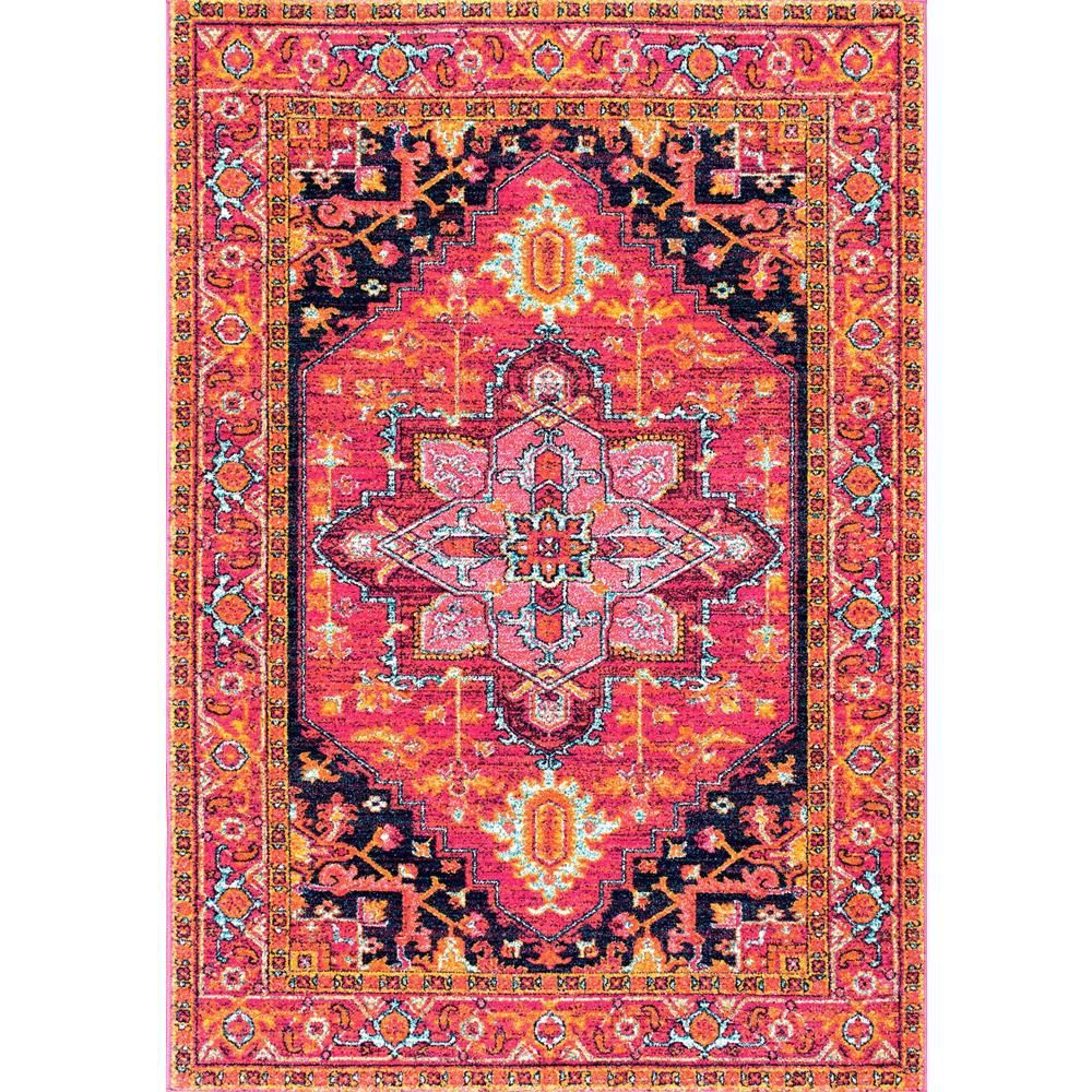 Nuloom Vonda Persian Pink 2 Ft X 3 Ft Area Rug Rzbd32a 203 The Home Depot Area Rugs Affordable Rugs Colorful Rugs