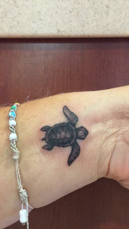 4b1e5fb0b3044 37+ Baby Turtle Tattoos | Monica Davis | Turtle tattoo designs ...