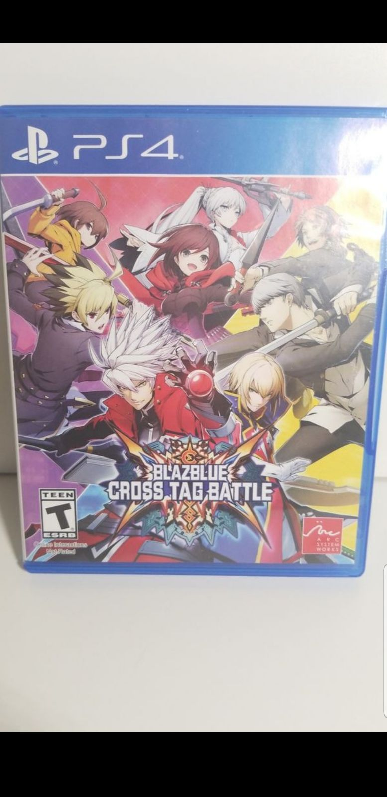 BlazBlue Cross Tag Battle for PS4 fighting game. Like new