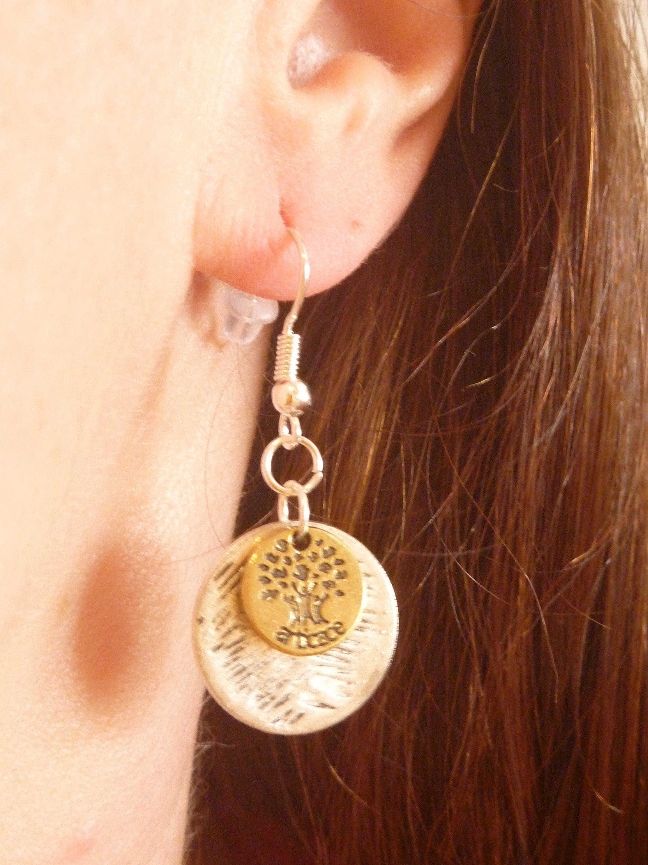 Ich Freue Mich Den Jungsten Neuzugang In Meinem Etsy Shop Vorzustellen Zwei Kreise Ohrringe Hangend Damen Frauen Tee Ohrring Baum Modeschmuck Ohrringe Kreis