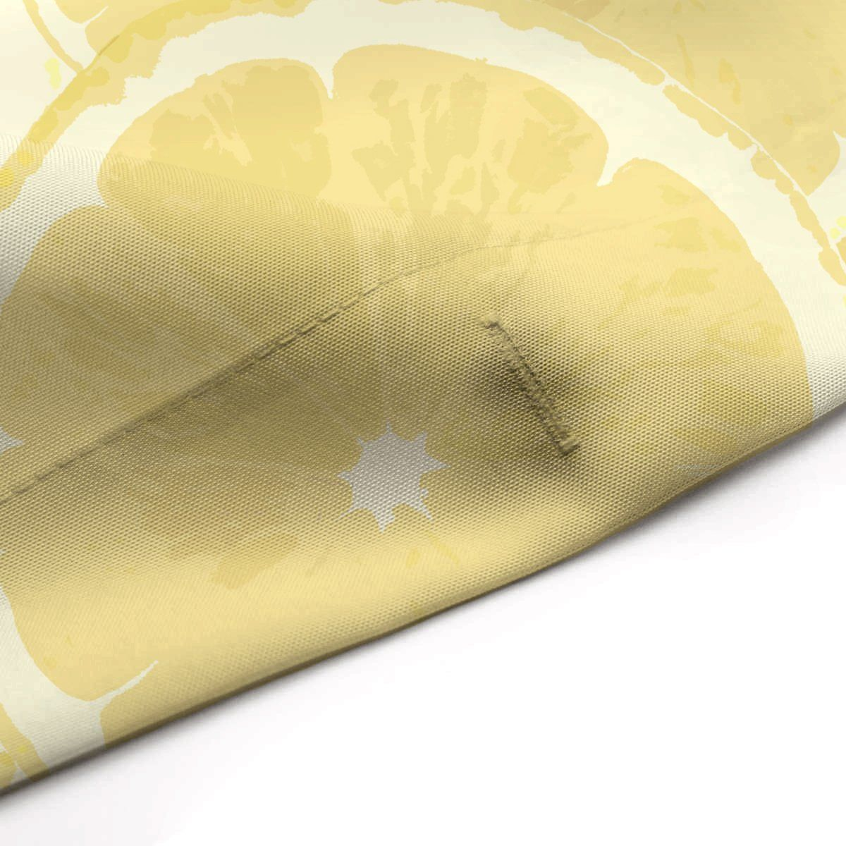 Photo of Lemons Forever Printed Yellow Fabric Shower Curtain – Extra Long: 70 x 90 inches – 178 x 229 cm