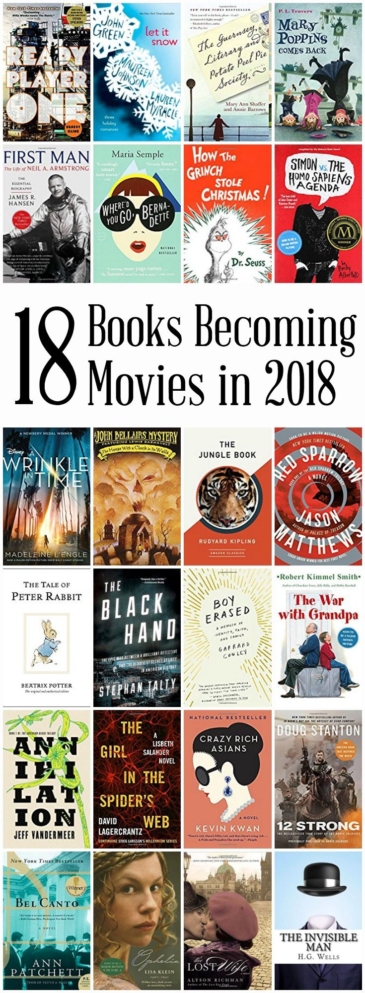 Have You Read These 18 Books Becoming Movies In 2018 Save More