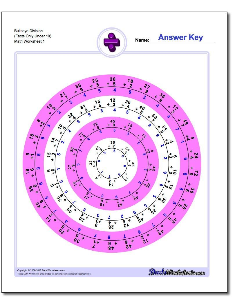 Bullseye Division If You Ve Seen More Array Style Division Worksheets Than You Can Handle Division Facts Practice Division Worksheets Division Facts Worksheets