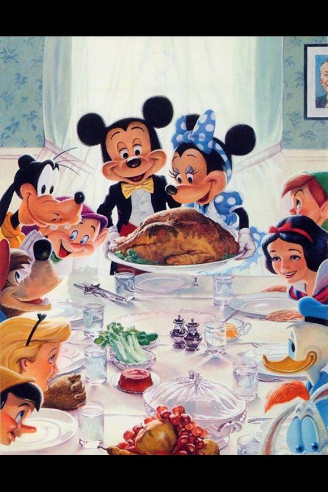 The whole Disney Gang enjoying a feast