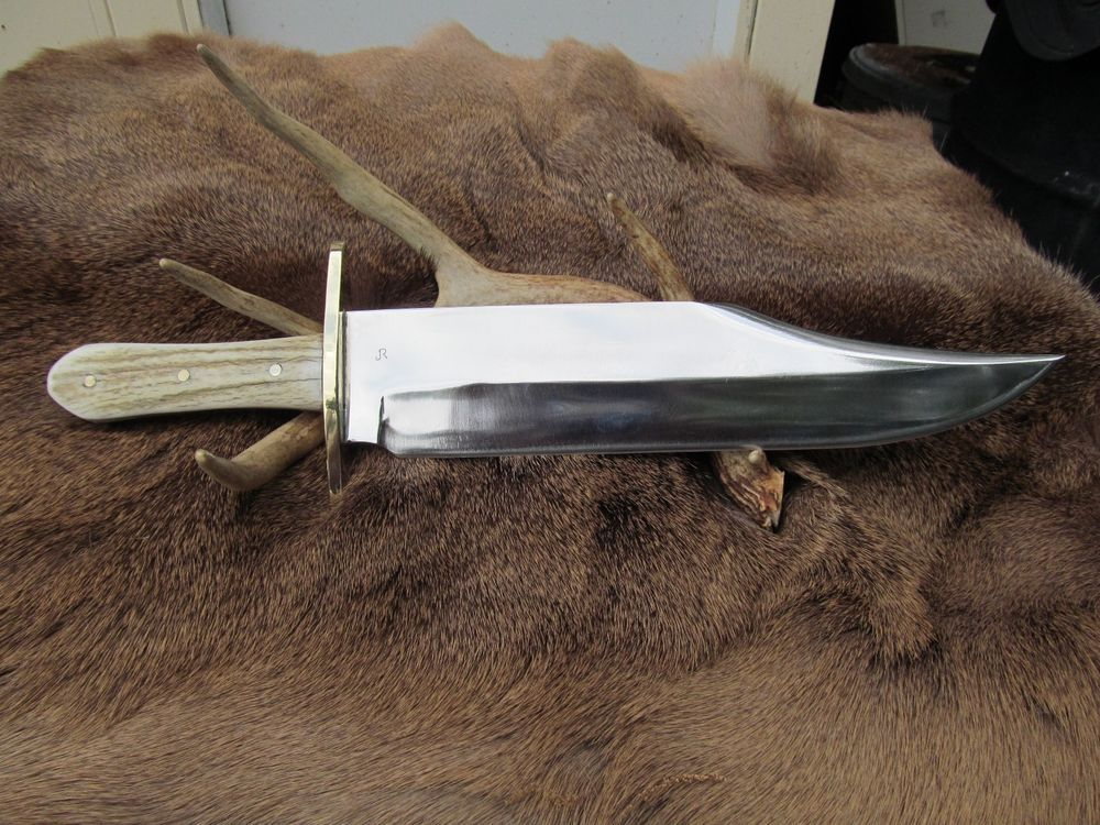 Extra Large Hand Made Mountain Man Bowie Knife 1095 High Carbon Steel Blade Bowie Knife Knife High Carbon Steel