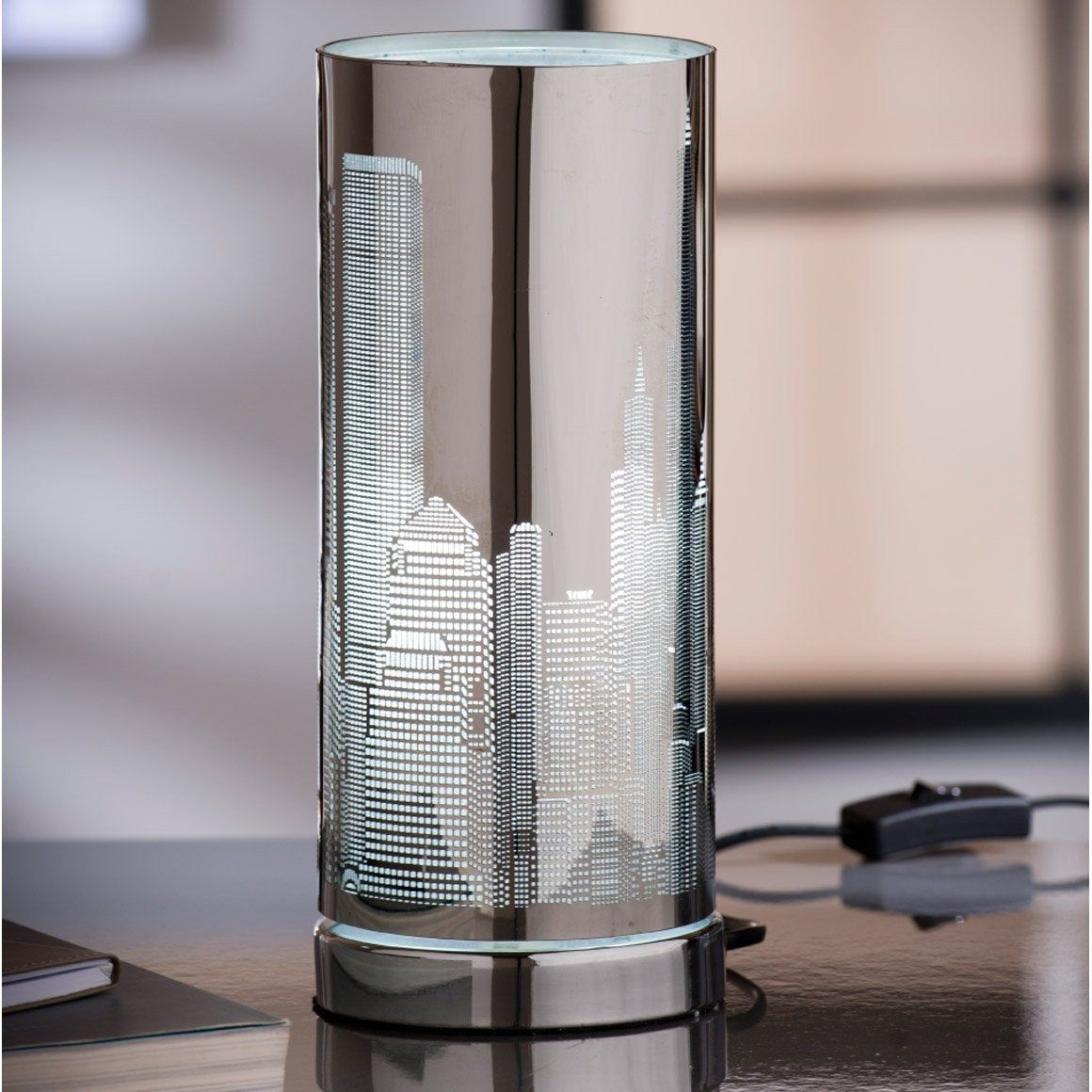 Lampe E14 New York Inspire Metal Chrome 25 W Lampe Metal Eclairage Exterieur Et Metal