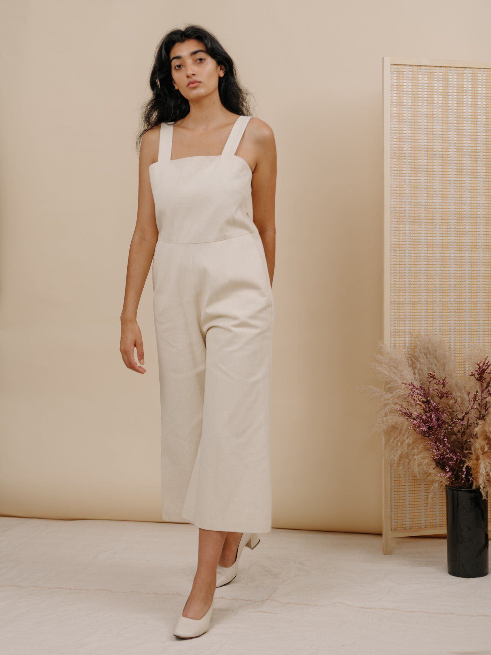 a0a5eb91ef24 Kate Jumpsuit in Eggshell Denim